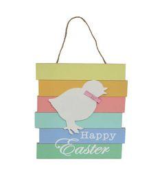 Easter Wall Decor-Multicolor Chick Silhouette