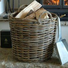 Round Rattan Log Baskets