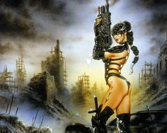 Heavy Metal Magazine - Sorcery Issue (cover by Luis Royo) 2003 Arte Heavy Metal, Heavy Metal Comic, Fantasy Girl, Sci Fi Fantasy, Dark Fantasy, Metal Magazine, Magazine Art, Cyberpunk, Dark Paintings