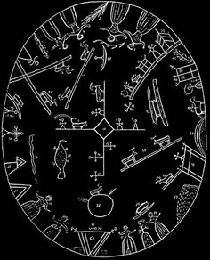 Runic Sami Shaman drum from Norway illustrated by Friis (1871) - See comments | Flickr - Photo Sharing!