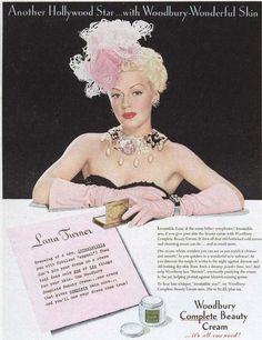 Lana Turner uses Woodbury Beauty Cream in 1945