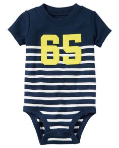 Designer Clothes, Shoes & Bags for Women Striped Bodysuit, Baby Bodysuit, Toddler Outfits, Baby Boy Outfits, Kids Boys, Baby Kids, Family Tees, Carters Baby Boys, Simple Outfits