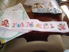 toalla hecha por mi amada madre para su nieta