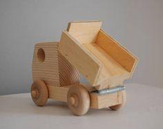 Items similar to Wooden Toy Dump Truck on Etsy hashtags Wooden Toy Trucks, Wooden Car, Wooden Toys, Wood Projects, Woodworking Projects, Wood Toys Plans, Dump Truck, Jouer, Kids Toys