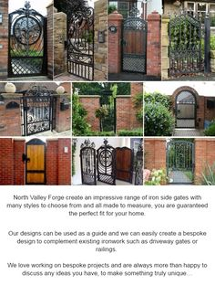 Just because it's not a big gate doesn't mean it can't be just as striking! http://www.northvalleyforge.co.uk/gate-products/side-garden-gates/