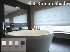 Flat Roman shades