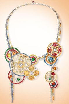 """Necklace Louis Vuitton  collection """"The Soul of Travel"""", white and red gold, diamonds"""