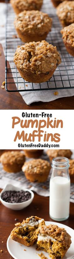 This gluten-free pumpkin muffins with chocolate chips, cream cheese filling and streusel topping is really good - I love the topping on these - it just puts them over the edge good!
