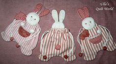 Ulla's Quilt World: Quilted rabbit pouch, Japanese patchwork.  PJ Bag?