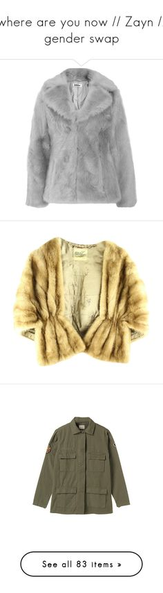 """where are you now // Zayn // gender swap"" by electrasullivan ❤ liked on Polyvore featuring zayn, gigi, zolo, outerwear, coats, jackets, fur, fur coat, jakke and none"