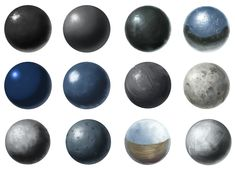 Material Studies 0002 - Metal Spheres by chromaTinker.deviantart.com on @deviantART ★ || Please support the artists and studios featured here by buying this and other artworks in their official online stores • Find us on www.facebook.com/CharacterDesignReferences | www.pinterest.com/characterdesigh | www.characterdesignreferences.tumblr.com | www.youtube.com/user/CharacterDesignTV and learn more about #concept #art #animation #anime #comics || ★