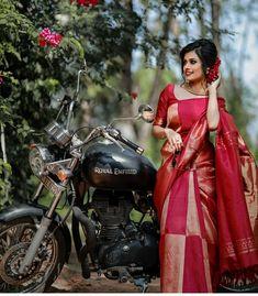 Kanjivaram Sarees, Kanchipuram Saree, Silk Sarees, Dress Designs, Blouse Designs, Bengali Bridal Makeup, Kerala Bride, Wedding Silk Saree, Saree Trends