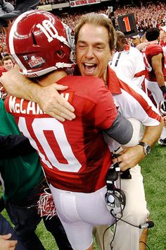 Nick Saban and AJ