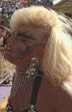 WWE / WWF WRESTLEMANIA 9: Luna Vachon was in the company of Intercontinental Champion, Shawn Michaels
