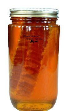 100 pure raw chunk honey comb in jar of raw honey 1 lb - 236×355