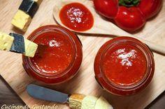 Marmellata peperoni per antipasti formaggi e bruschette