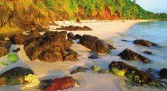 Pink Sand effect over sun set at Sila Island
