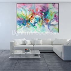 Modern Abstract Hand Painted Oil Painting on Canvas with Frame 2016 - £90.19