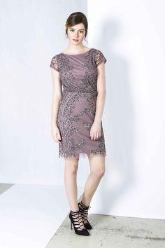 Adrianna Papell - €49 http://jurkenhuren.nl/product/amy-adrianna-papell/ purple short dress sequin