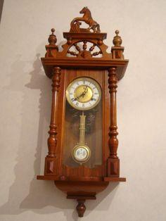 Hearty Antigua Pequeño Reloj Pequeño Péndulo Making Things Convenient For The People Relojes: Sobremesa Y Pared Muebles Antiguos Y Decoración