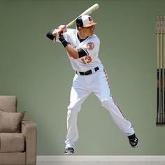 Manny Machado REAL.BIG. Fathead Wall Graphics  | Baltimore Orioles Wall Decal | Sports Décor