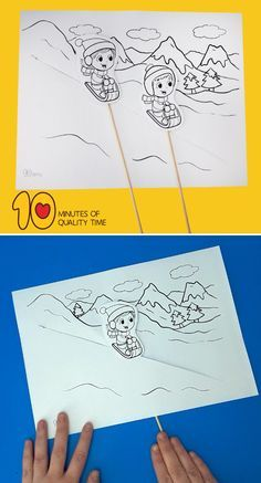 Fun in the Snow Craft - 10 Minutes of Quality Time - Crafts for Kids - Winter Fashion Indian Arts And Crafts, Easy Arts And Crafts, Crafts To Do, Paper Crafts, Groundhog Day Activities, Craft Activities For Kids, Preschool Crafts, Snow Globe Crafts, Snow Crafts