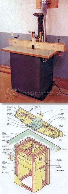 Precision Router Table Plans - Router Tips, Jigs and Fixtures | WoodArchivist.com