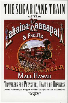 postcard - Maui Sugar Cane Train