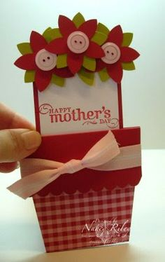 i STAMP by Nancy Riley: FLOWER POT CARD FOR ADA