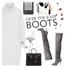 """Rock On: Over-The-Knee Boots"" by helenevlacho ❤ liked on Polyvore featuring DKNY, H&M, Yves Saint Laurent, contestentry and OverTheKneeBoots"