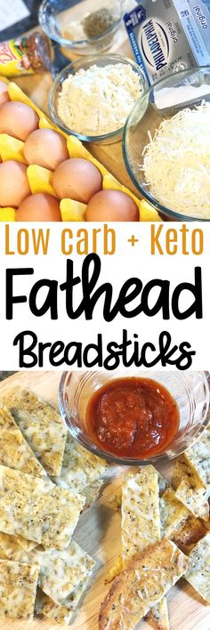 Fathead Breadsticks are the perfect low carb and keto option for that bread craving. Made from cheese, cream cheese, and egg plus seasonings, you can turn this dough into so many things, including these breadsticks for dipping or a low carb pizza crust!