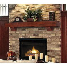 Pearl Mantels Shenandoah Traditional Fireplace Mantel Shelf - Fireplace Mantels & Surrounds at Hayneedle Modern Fireplace Mantels, Wood Mantel Shelf, Rustic Mantel, Fireplace Shelves, Wood Mantels, Traditional Fireplace, Rustic Fireplaces, Fireplace Hearth, Fireplace Remodel