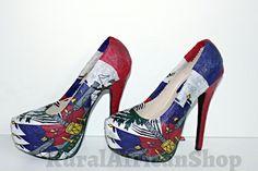 HAITI HAITI ILOVEU shoes by TheRuralafricanShop on Etsy, $90.00