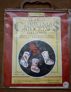 Christmas Stockings Cross Stitch Kit - Embroidery Kit - Victorian Christmas Stockings Collection by BluetreeSewingStudio on Etsy