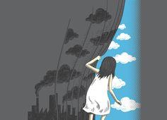 Hey, Mr. Blue Sky - Threadless.com - Best t-shirts in the world