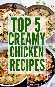 Top 5 Insanely Viral Creamy Chicken Recipes
