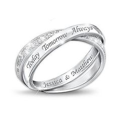 Gift Idea: Sterling Silver Diamond Infinity Ring: Today, Tomorrow, And Always
