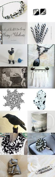 In black and white by Graciela Gacek on Etsy--Pinned with TreasuryPin.com