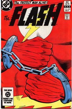 The Flash # Oktober Cover von Carmine Infantino & Gary Martin. Flash Comic Book, Batman Comic Books, Marvel Comics Superheroes, Batman Comics, Dc Comics, Vintage Comic Books, Vintage Comics, The Flash, Flash Tv Series