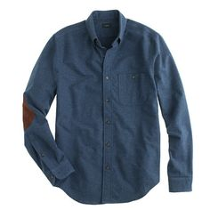 Heathered chamois elbow-patch shirt - my dad ( @dale Peterson ) would look very handsome in this.