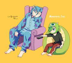 Tags: Anime Pixiv Id 2215797 Disney Pixar Monsters Inc. Monsters Inc, Disney Monsters, Anime Monsters, Disney Estilo Anime, Disney Anime Style, Cartoon Cartoon, Cartoon Movies, Disney Fan Art, Disney E Dreamworks