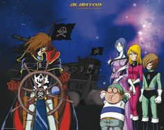 Poster affiche Albator 78  Albator et son équipage