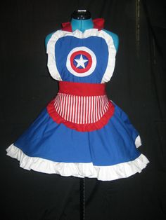 Captain America Inspired Cosplay Apron Pianfore by darlingarmy, $70.00