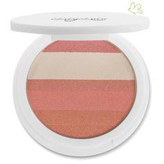 Lily Lolo - Enlumineur Minéral Compact Shimmer Stripes Rose Glow Des poudres minérales précieuses pour illuminer en subtilité votre visage ! Une association de poudres minérales compactes d'un degradé de teintes roses, blanches et brunes. Un dosage idéal de nacres et de pigments pour créer des reflets uniques et apporter de l'éclat à votre teint. 25€ #lilylolo #maquillage #mineral www.officina-paris.fr