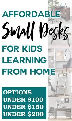 With many kids learning from home this fall, families are searching for small, affordable desks. This list includes more than a dozen desks under $100, under $150, and under $200. Get ready for remote learning with a desk that provides storage and function, without taking up too much space. Learning Spaces, Kids Learning, Diy Craft Projects, Home Projects, Kid Crafts, Bookshelf Desk, Mini Desk, Student Desks, New Toilet