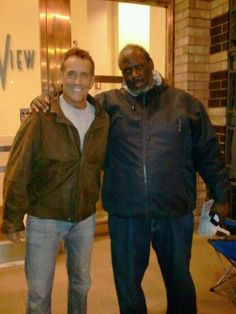Yours Truly and John Wesley Shipp in front of the ABC Studios, where ONE LIFE TO LIVE was taped (November 2011).
