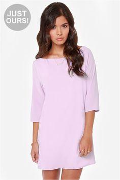 LULUS Exclusive Open Heart Lavender Shift Dress at LuLus.com! $39 Perfect summer color!