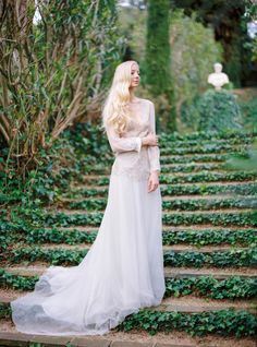 This bride looks like a modern day princess: http://www.stylemepretty.com/destination-weddings/2016/06/27/the-sweetest-spanish-wedding-weve-ever-seen/ | Photography: Muravnik Photography - http://www.marinamuravnik.com/