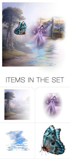 """Stairway to heaven no more wings"" by sally-a-chapman ❤ liked on Polyvore featuring art"