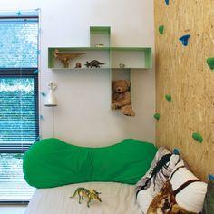 Køb fin design reol i mintgrøn med 4 rum · HAKO reol MINT  er dansk design